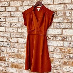 Monteau LA Wrap A Line Dress Anthropologie